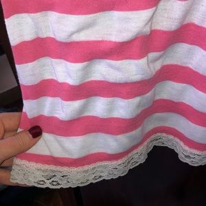 Charlotte Russe Dresses - Cute Charlotte Russe pink & white striped dress
